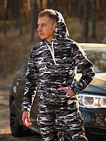 Зимний мужской спортивный костюм с капюшоном, чоловічий спортивний костюм на флісі, костюм с начесом, камуфляж