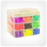Набор резиночек для плетения (4500 штук, пластиковый чемоданчик, 3 уровня)