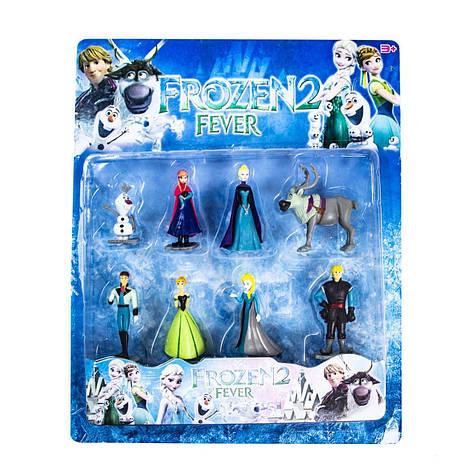 Набор игровых фигурок Холодное сердце (Frozen) 8 героев Олаф Анна Эльза Свен Кристофф