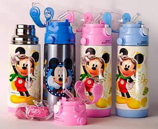 Детский термос Mickey Mouse 350ml (S08049)