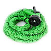 Шланг поливочный Magic Hose 7.5 м  Растягивающийся Зеленый
