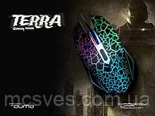 Мышка Qumo Dragon War Terra проводная оптическая компьютерная игровая черное колесико