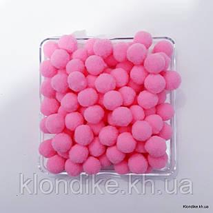 """Помпоны """"Велюр"""", 1.5 см, Цвет: Розовый (50 шт.)"""