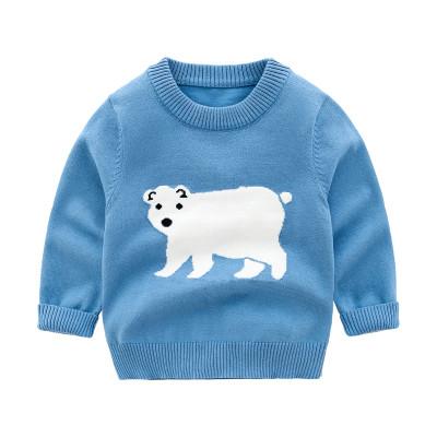 Голубой детский свитер с белым  мишкой  свитер для мальчика  для девочки качество отличное!
