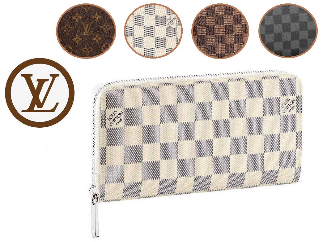 Кошелек Louis Vuitton Клатч Луи Витон портмоне LV (реплика) В различных цветах