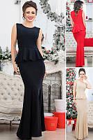 Вечернее облегающее платье-рыбка в 3-х цветах 42-48 размер