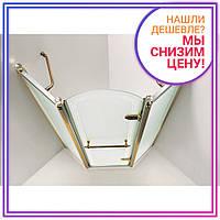 GRAND TENERIFE Combi Кабина пятиугольная с распашной дверью,в золоте/серебре, без поддона 1000*1000*2000мм