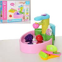 Кухня детская QUN FENG TOYS раковина/мойка - течет вода (QF26246P)