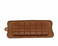 """Силиконовая форма для шоколада """"Плитка шоколада"""" ( 10,5 см на 21,0 см )"""