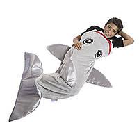 Детский плед для мальчиков в форме акулы Snuggie Tails Shark jb (S08202)