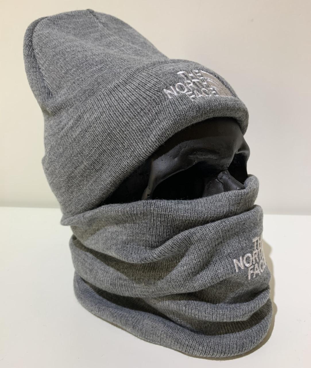 Шапка мужская The North Face - ❄️ Winter ❄️ Серая