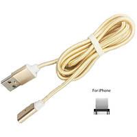 Магнітний USB кабель Magneto для iPhone Золото, фото 1