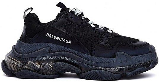 Кроссовки Balenciaga Triple S Clear Sole Black черные