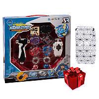 Набор BEYBLADE Storm Gyro v1 + детские наручные LED-часы Paper Watch Spider web