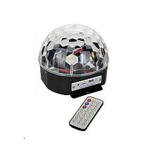 Диско куля Magic Music Ball Light mp3 світломузика з пультом