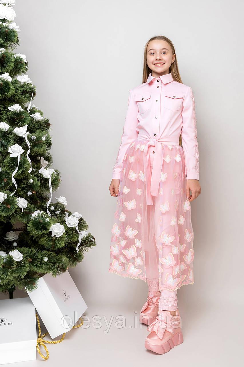 Нарядный оригинальный костюм для девочек TM Barbarris Размеры 128-158