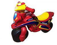 Мотоцикл-каталка Doloni 0139/56 Музыкальный Полиция Красный