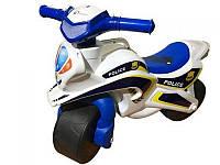 Мотоцикл-каталка Doloni 0139/51 Музыкальный Полиция Бело-синий