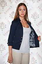 Модный оригинальный женский пиджак из коттон-мемори, фото 3