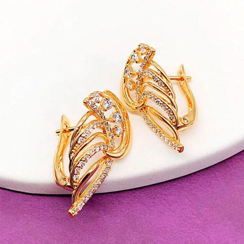 Серьги Xuping Jewelry Кетрин медицинское золото, позолота 18К английский замок. А/В 4672