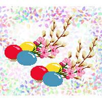 """Водорастворимый флизелин с рисунком """"Confetti"""" (K 246 Пасхальный букет)"""
