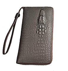 Мужской кошелек-портмоне  Alligator коричневый