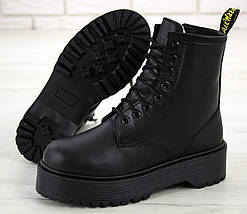 Женские зимние ботинки Dr. Martens Jadon   Platform Boots с мехом, фото 2