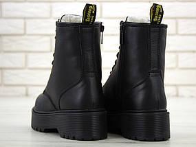 Женские зимние ботинки Dr. Martens Jadon   Platform Boots с мехом, фото 3