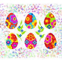 """Водорастворимый флизелин с рисунком """"Confetti"""" (K 247 Писанки с цветами)"""