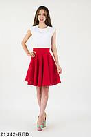 Симпатичне жіноче плаття з білим верхом і пишною спідницею Allora