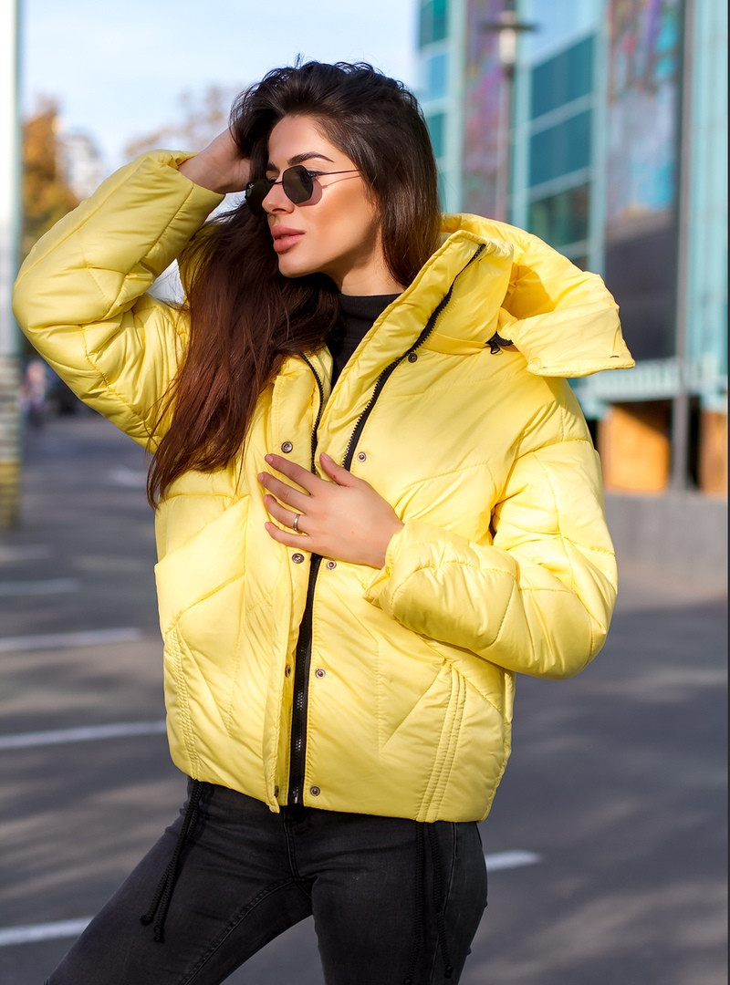 Куртка женская oversize короткая необычного фасона
