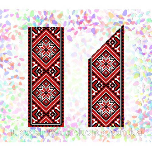 """Водорастворимый флизелин с рисунком """"Confetti"""" (K 249 Красное и черное)"""