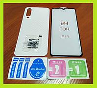 Стекло 6D Curved FullGlue изогнутое премиум для Xiaomi Mi 9\Mi9 Lite + защитная прозрачная карбоновая пленка