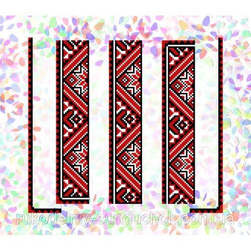 """Водорастворимый флизелин с рисунком """"Confetti"""" (K 250 Красное и черное)"""