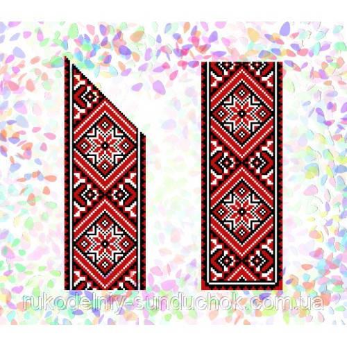 """Водорастворимый флизелин с рисунком """"Confetti"""" (K 251 Красное и черное)"""