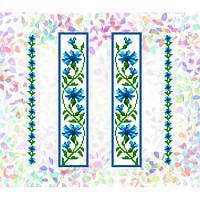 "Водорастворимый флизелин с рисунком ""Confetti"" (K 252 Васильки)"