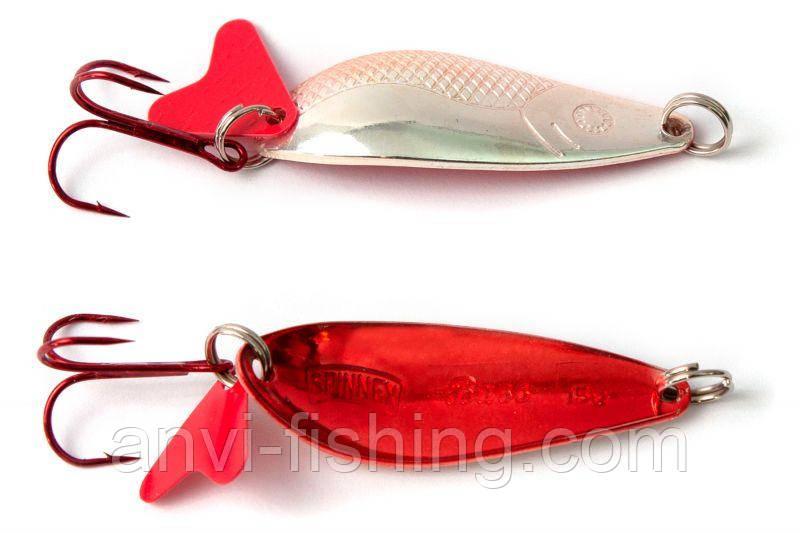 Блесна Spinnex Bass Silver/Red вес - 15g, длина - 52mm