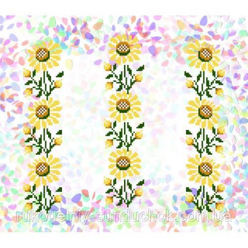 """Водорастворимый флизелин с рисунком """"Confetti"""" (K 253 Подсолнухи)"""