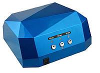 Лампа для маникюра многогранник с СЕНСОРОМ LED+CCFL гибрид 36 Вт Синяя