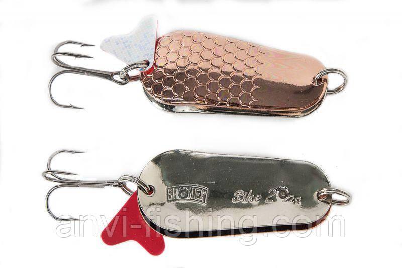 Блесна Spinnex Pike Copper/Silver вес - 22g, длина - 60mm