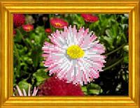 Схема для вышивания  на габардине Майский цветок