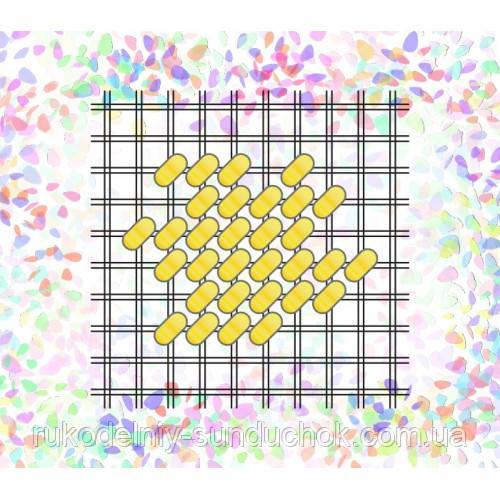 "Водорастворимый флизелин с рисунком ""Confetti"" (K 258 Сетка бисер №10)"