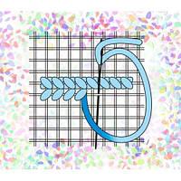 "Водорастворимый флизелин с рисунком ""Confetti"" (K 259 Сетка Аида №14)"