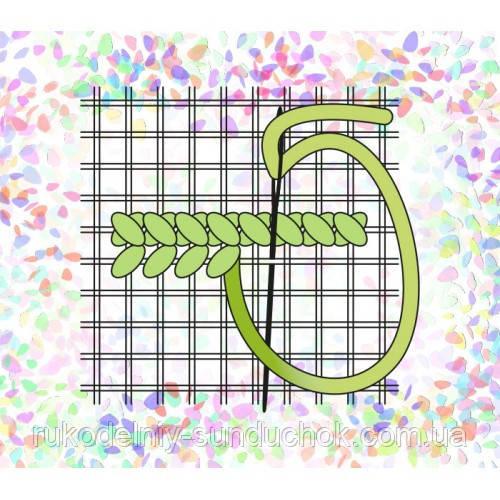 "Водорастворимый флизелин с рисунком ""Confetti"" (K 260 Сетка Аида №16)"