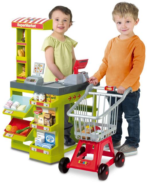 Супермаркеты, кассы, тележки, продукты