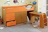 Детская кровать-чердак со столом ДМО 41, фото 3