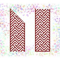 """Водорастворимый флизелин с рисунком """"Confetti"""" (K 261 Красный орнамент)"""