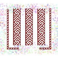 """Водорастворимый флизелин с рисунком """"Confetti"""" (K 262 Красный орнамент)"""