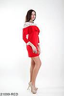 Симпатичне ошатне плаття трапеція з басками на плечах і гіпюром зверху Vega