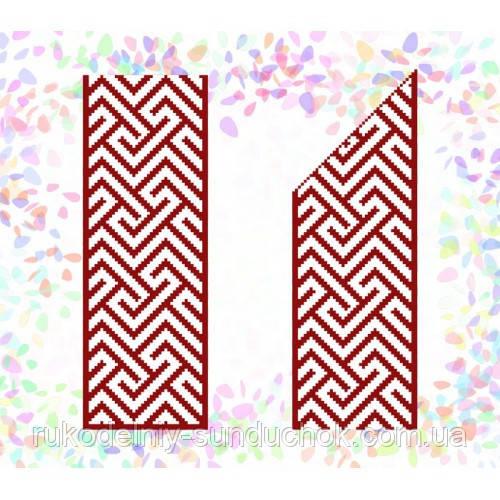 """Водорастворимый флизелин с рисунком """"Confetti"""" (K 263 Красный орнамент)"""